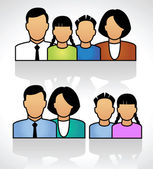 Icon of family — Stock Vector