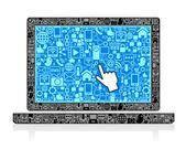 Laptop Symbol — Stock Vector