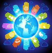Menschen globale kommunikation — Stockvektor