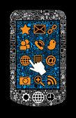Símbolo smartphone — Vetorial Stock