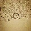 Background old paper with painted gears — Stock Photo #30539721