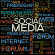 Social Media backgrounds with the words — Stock Vector