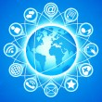 Social Media Globe — Stock Vector
