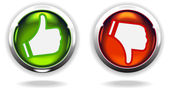 """Like"" and ""Unlike"" buttons — Stock Vector"