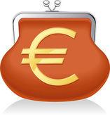 Geldbeutel euro — Stockvektor