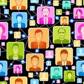 Conexão sem costura de fundo entre as pessoas — Vetor de Stock