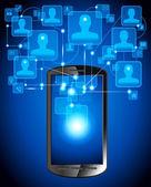 Sharing telephone — Stock Vector