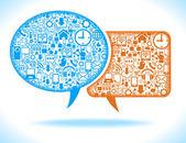 Social media speech bubble — Stock Vector