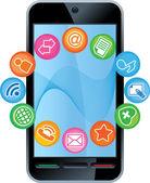 Teléfono-medios — Vector de stock
