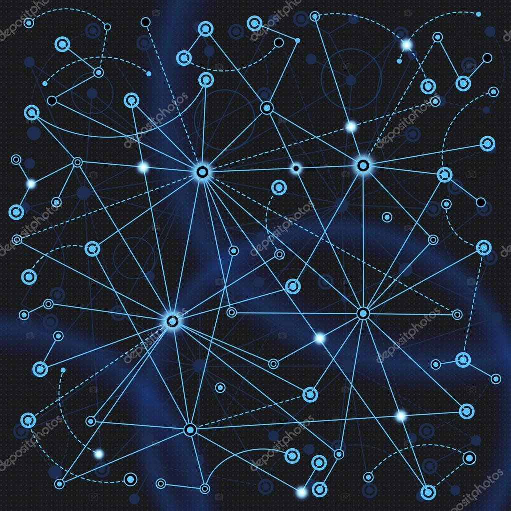 在网络中传播的概念.神经细胞的人权