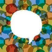 Seamless speech bubbles vector background — Stock Vector
