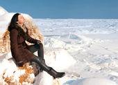 Basking in the winter sun — Stock Photo