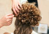 Wedding hairstyle — Stock Photo