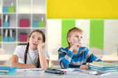 Bored children — Stock Photo
