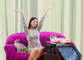 Girl going on vacation — Stock Photo