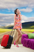 Dreaming of a countryside vacation — Stock Photo