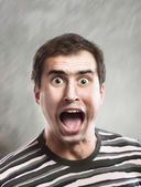 Shouting man — Stock Photo
