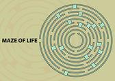 Maze of Life — Stock Vector