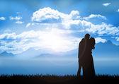 Couple in sunrise — Stock fotografie