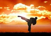 Karate opleiding — Stockfoto