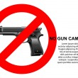 No Gun Campaign — Stock Vector