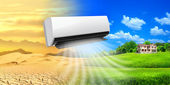 Condicionador de ar. vida confortável — Foto Stock