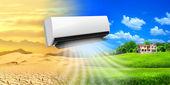 Klimatyzator. wygodne życie — Zdjęcie stockowe