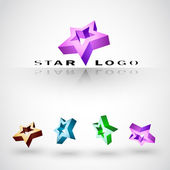 Company (Business) 3d vector Logo. Best of stars! — Stock Vector