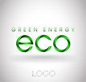 Green energy. Ecological logo — Stock Vector