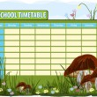 School timetable — Stock Vector #39557281