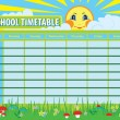 School timetable — Stock Vector #39557727