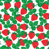 Strawberry seamless background — Stock Vector