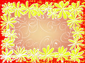 Floral frame. texture — Stock Vector