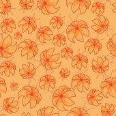 Orange lily — Stock Vector