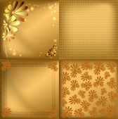 Gold vector backgrounds — Vector de stock