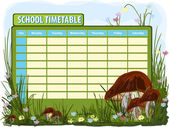 School timetable — Stock Vector