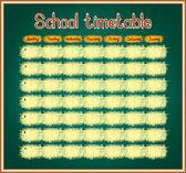 School timetable on blackboard — Stock Vector