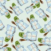 Muñeco de nieve azul — Vector de stock