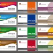Set of 12 professional business cards — Vettoriale Stock