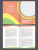 Vector empty bifold brochure print template — Stock Vector