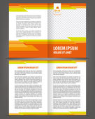 Vector empty bifold brochure print template design — Stock Vector