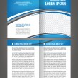 Stock Vector: Vector empty bi-fold brochure print template design