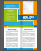 Vector empty multicolored bi-fold brochure template design — Stock Vector