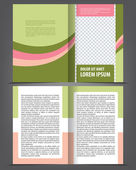 Bi-fold brochure print template design — Stock Vector