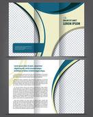 Trifold brochure print template design — Stock Vector
