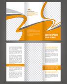 Brochure print template design — Stock Vector