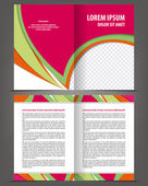 Bifold brochure print design template — Stock Vector