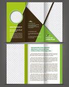 Vector empty trifold brochure print template design — Stock Vector