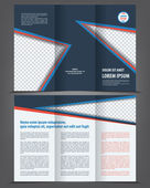 Brochure print template design — Cтоковый вектор