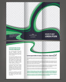 Vector empty trifold brochure template   design — Stock Vector